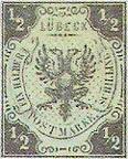½ Schilling, Lübeck Briefmarke 1859