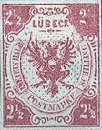 2 ½ Schilling, Lübeck Briefmarke 1859