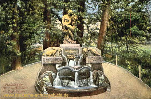 Meiningen, Märchenbrunnen im Englischen Garten