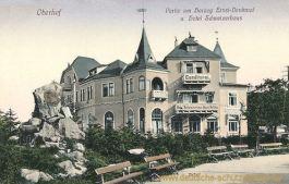 Oberhof, Herzog Ernst-Denkmal und Hotel Schweizerhaus