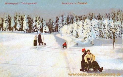 Oberhof, Rodelbahn, Wintersport im Thüringer Wald