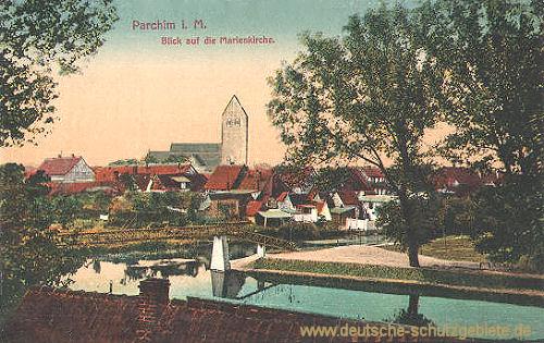 Parchim i. M., Blick auf die Marienkirche
