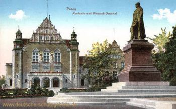 Posen, Akademie und Bismarck-Denkmal