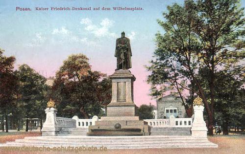 Posen, Kaiser Friedrich-Denkmal auf dem Wilhelmsplatz