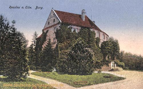 Rosslau, Burg