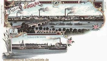 Rosslau, Schiffswerft der Gebrüder Sachsenberg