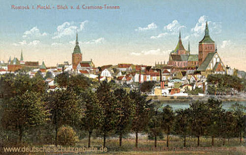 Rostock, Blick von den Cramons-Tannen