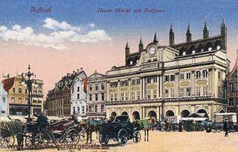 Rostock, Neuer Markt mit Rathaus
