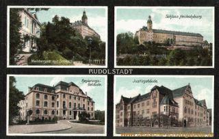Rudolstadt, Weinbergstraße, Schloss, Regierungsgebäude, Justizgebäude
