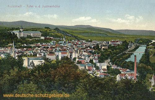 Rudolstadt, Total v. d. Justinenhöhe