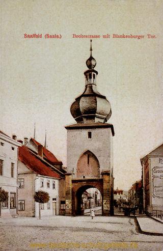 Saalfeld, Breitestraße mit Blankenburger Tor