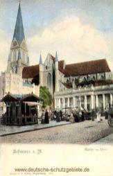 Schwerin i. M., Markt mit Dom
