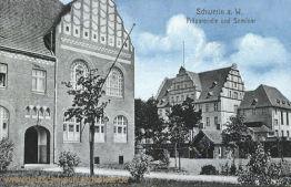Schwerin an der Warthe, Präparandie und Seminar