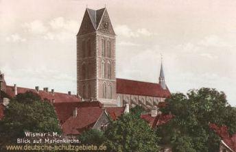 Wismar, Blick auf die Marienkirche
