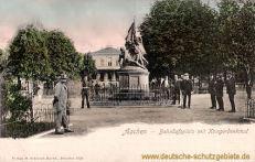 Aachen, Bahnhofplatz mit Kriegerdenkmal