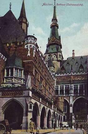 Aachen, Rathaus (Seitenansicht)