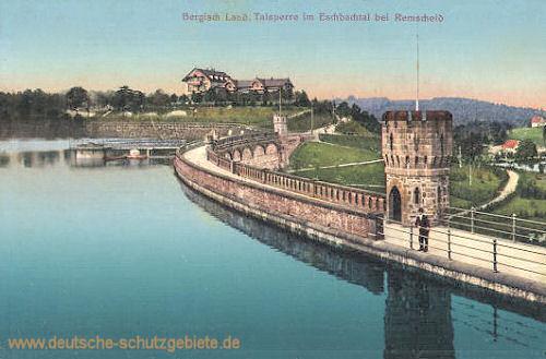 Bergisch Land Talsperre im Eschbachtal bei Remscheid