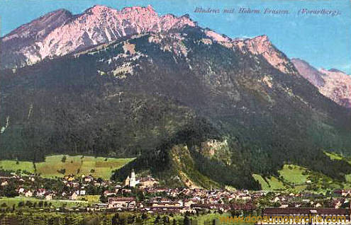 Bludenz mit Hohem Frassen (Vorarlberg)