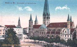 Bonn, Münsterplatz mit Münsterkirche
