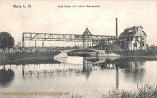 Burg b. M., Ihle-Kanal mit neuer Gasanstalt