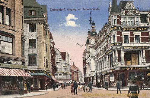 Düsseldorf, Eingang zur Schadowstraße