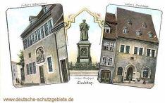 Eisleben, Luthers-Sterbehaus, Luther-Denkmal, Luthers-Geburtshaus