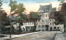 Eisleben, Schlossplatz mit Gewerbebank