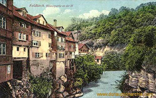 Feldkirch, Häuserpartie an der Ill