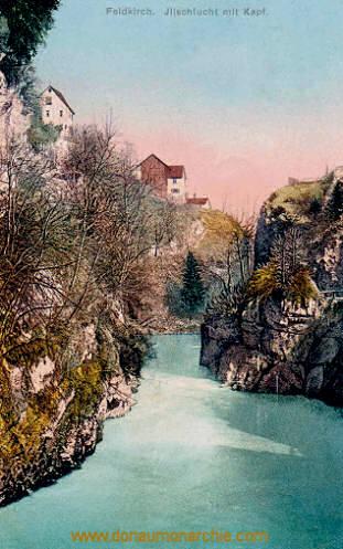 Feldkirch, Illschlucht mit Kapf