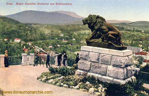 Graz, Major Hackher Denkmal am Schlossberg