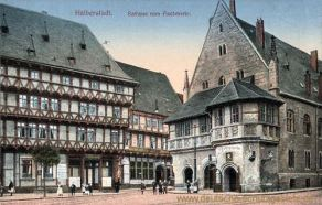 Halberstadt, Rathaus vom Fischmarkt