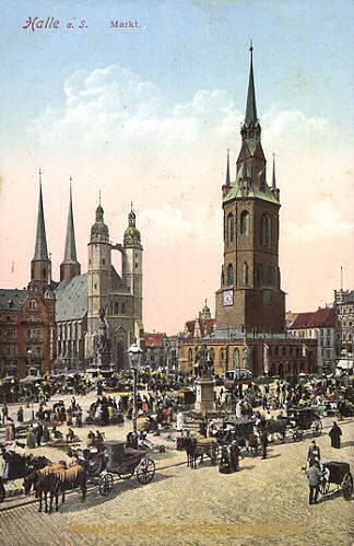 Halle, Markt
