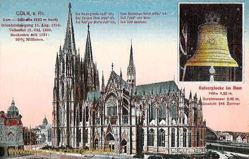 Köln, Dom mit Kaiserglocke