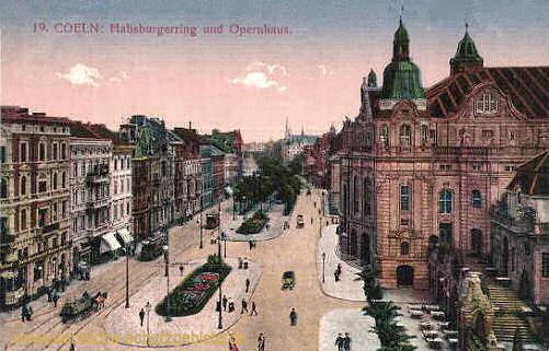 Köln, Habsburgerring und Opernhaus