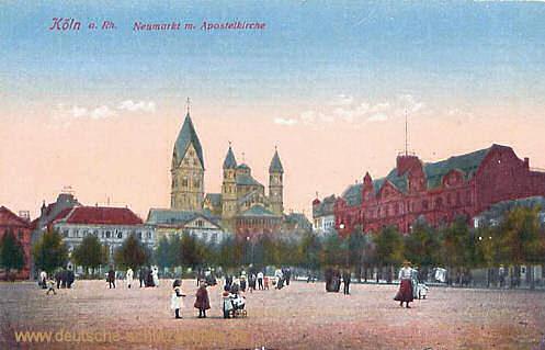 Köln, Neumarkt mit Apostelkirche