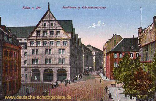 Köln, Stadthaus mit Gürzenichstraße
