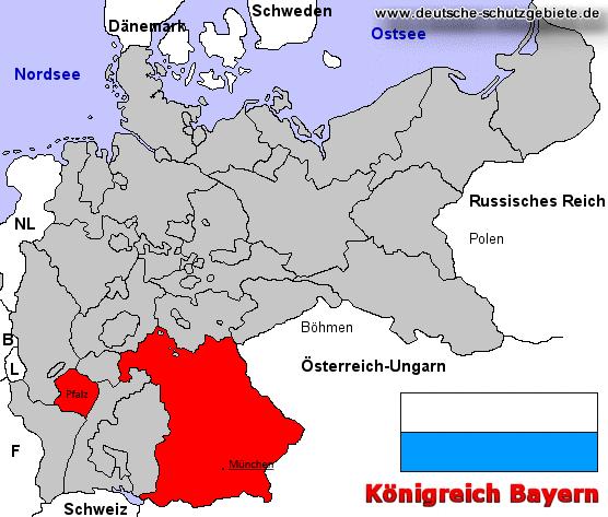 Königreich Bayern, Lage im Deutschen Reich