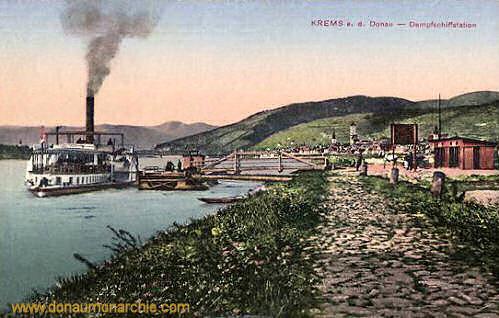 Krems a. d. Donau, Dampfschiffstation