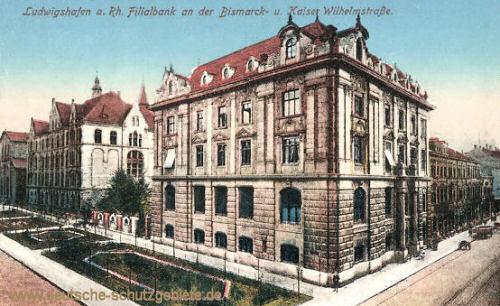 Ludwigshafen, Filialbank an der Bismarck- und Kaiser Wilhelmstraße