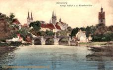 Merseburg, Königl. Schloss u d Waterloobrücke