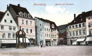 Merseburg, Markt mit Brunnen