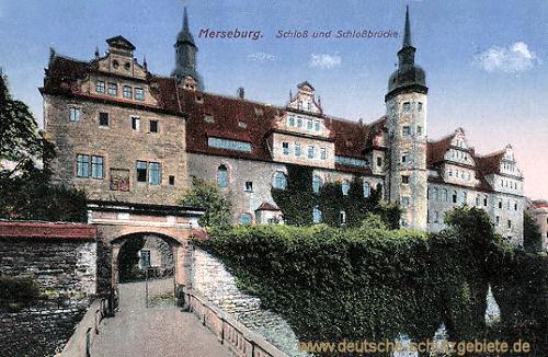 Merseburg, Schloss und Schlossbrücke
