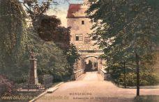 Merseburg, Schlossbrücke mit Nollendorf-Denkmal
