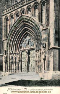 Mühlhausen i. Thür., Portal der oberen Marktkirche