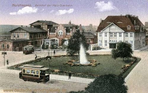 Nordhausen, Bahnhof der Harzquerbahn