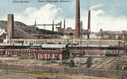 Oberhausen, Zeche Concordia, Schacht I