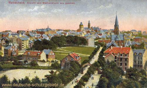 Remscheid, Ansicht vom Bismarckturm aus gesehen