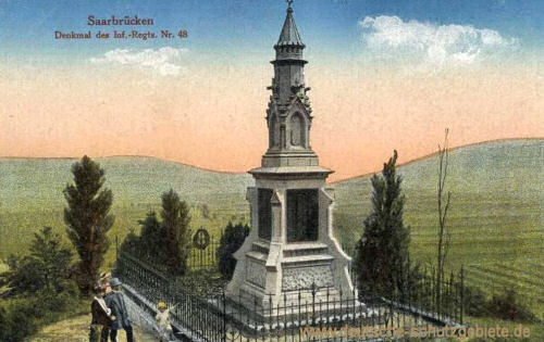 Saarbrücken, Denkmal des Inf-Regts. Nr. 48