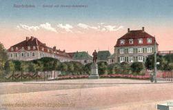 Saarbrücken, Schloss mit Bismarckdenkmal