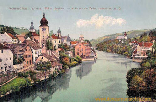 Waidhofen an der Ybbs, Motiv von der Zeller Hochbrücke